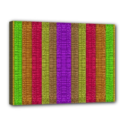 Colors Of A Rainbow Canvas 16  X 12  (stretched) by pepitasart