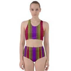 Colors Of A Rainbow Racer Back Bikini Set