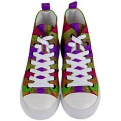 Colors Of A Rainbow Women s Mid-top Canvas Sneakers