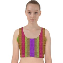 Colors Of A Rainbow Velvet Racer Back Crop Top