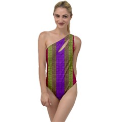 Colors Of A Rainbow To One Side Swimsuit