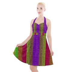 Colors Of A Rainbow Halter Party Swing Dress