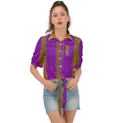 Colors Of A Rainbow Tie Front Shirt