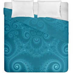 Cerulean Blue Spirals Duvet Cover Double Side (king Size)