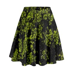 Nature Dark Camo Print High Waist Skirt