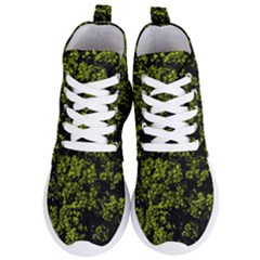 Nature Dark Camo Print Women s Lightweight High Top Sneakers