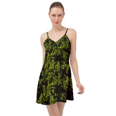 Nature Dark Camo Print Summer Time Chiffon Dress
