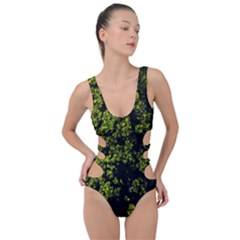 Nature Dark Camo Print Side Cut Out Swimsuit