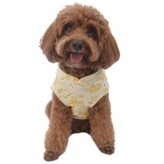 Yellow Flowers Floral Print Dog Sweater