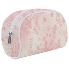 Baby Pink Floral Print Makeup Case (medium) by SpinnyChairDesigns
