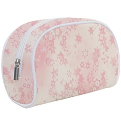 Baby Pink Floral Print Makeup Case (large) by SpinnyChairDesigns