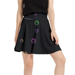 Bubble In Blavk Background Waistband Skirt