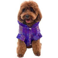 Boho Purple Floral Print Dog Coat by SpinnyChairDesigns