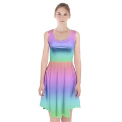 Pastel Rainbow Ombre Gradient Racerback Midi Dress by SpinnyChairDesigns