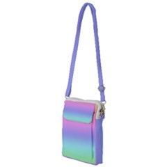 Pastel Rainbow Ombre Gradient Multi Function Travel Bag by SpinnyChairDesigns
