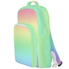 Pastel Rainbow Diamond Pattern Double Compartment Backpack by SpinnyChairDesigns