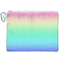 Rainbow Floral Ombre Print Canvas Cosmetic Bag (xxl)