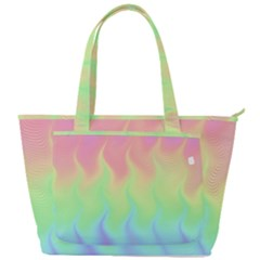 Pastel Rainbow Flame Ombre Back Pocket Shoulder Bag  by SpinnyChairDesigns