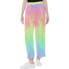 Pastel Rainbow Flame Ombre Women s Pants  by SpinnyChairDesigns