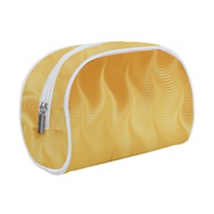 Gold Flame Ombre Makeup Case (small) by SpinnyChairDesigns