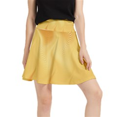 Gold Flame Ombre Waistband Skirt