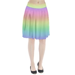 Pastel Rainbow Ombre Pleated Skirt by SpinnyChairDesigns