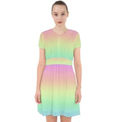 Pastel Rainbow Ombre Adorable In Chiffon Dress by SpinnyChairDesigns