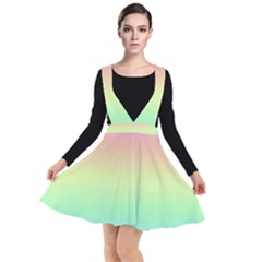 Pastel Rainbow Ombre Plunge Pinafore Dress by SpinnyChairDesigns