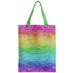 Rainbow Ombre Texture Classic Tote Bag