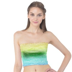 Rainbow Ombre Texture Tube Top by SpinnyChairDesigns