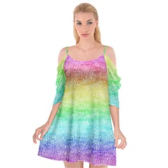 Rainbow Ombre Texture Cutout Spaghetti Strap Chiffon Dress by SpinnyChairDesigns