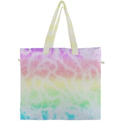 Pastel Rainbow Tie Dye Canvas Travel Bag