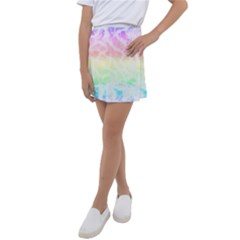 Pastel Rainbow Tie Dye Kids  Tennis Skirt by SpinnyChairDesigns