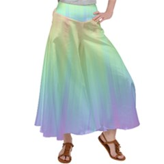 Pastel Rainbow Gradient Satin Palazzo Pants by SpinnyChairDesigns