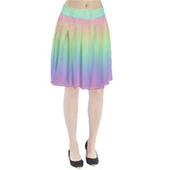 Pastel Rainbow Gradient Pleated Skirt by SpinnyChairDesigns