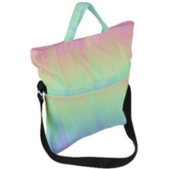 Pastel Rainbow Gradient Fold Over Handle Tote Bag by SpinnyChairDesigns