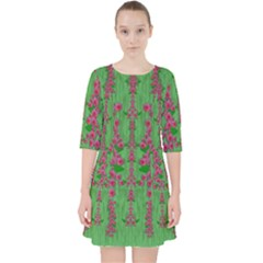 Lianas Of Sakura Branches In Contemplative Freedom Pocket Dress