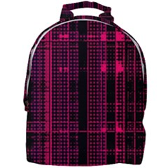 Pink Black Punk Plaid Mini Full Print Backpack by SpinnyChairDesigns