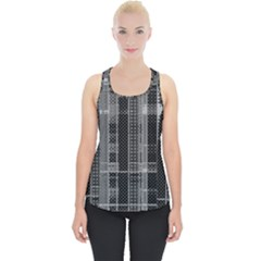 Black Punk Plaid Piece Up Tank Top