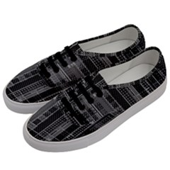 Black Punk Plaid Men s Classic Low Top Sneakers by SpinnyChairDesigns