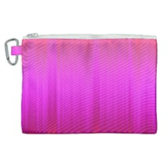 Fuchsia Ombre Color  Canvas Cosmetic Bag (xl) by SpinnyChairDesigns