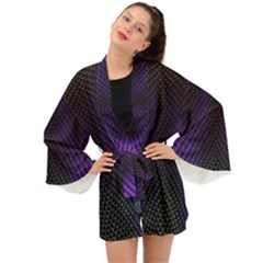 Alien Skin Glow Long Sleeve Kimono by SpinnyChairDesigns