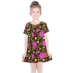 Background Rose Wallpaper Kids  Simple Cotton Dress