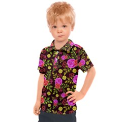 Background Rose Wallpaper Kids  Polo Tee