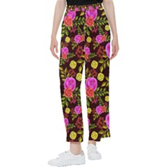 Background Rose Wallpaper Women s Pants