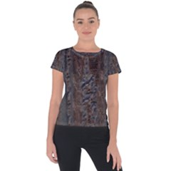 Color Fine Textures Short Sleeve Sports Top  by AnjaniArt