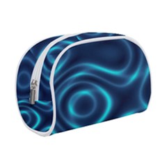 Blue Wavy Makeup Case (small)