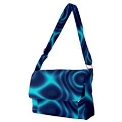 Blue Wave 2 Full Print Messenger Bag (m)