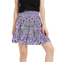 Floral Wreaths In The Beautiful Nature Mandala Waistband Skirt