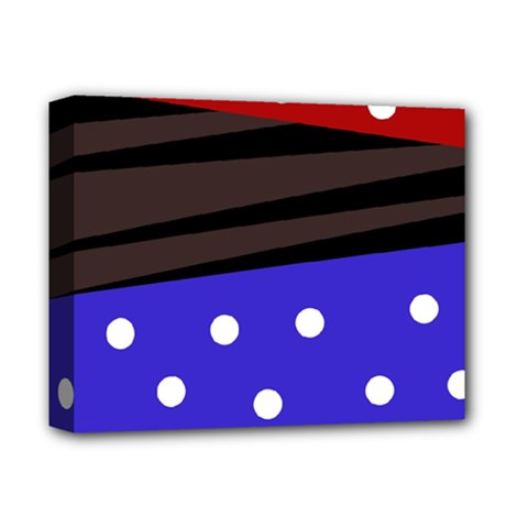 Mixed-lines-dots Black-bg Deluxe Canvas 14  X 11  (stretched)